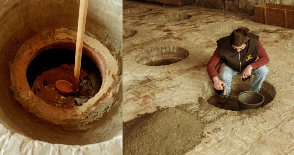 Traditional qveri winemaking
